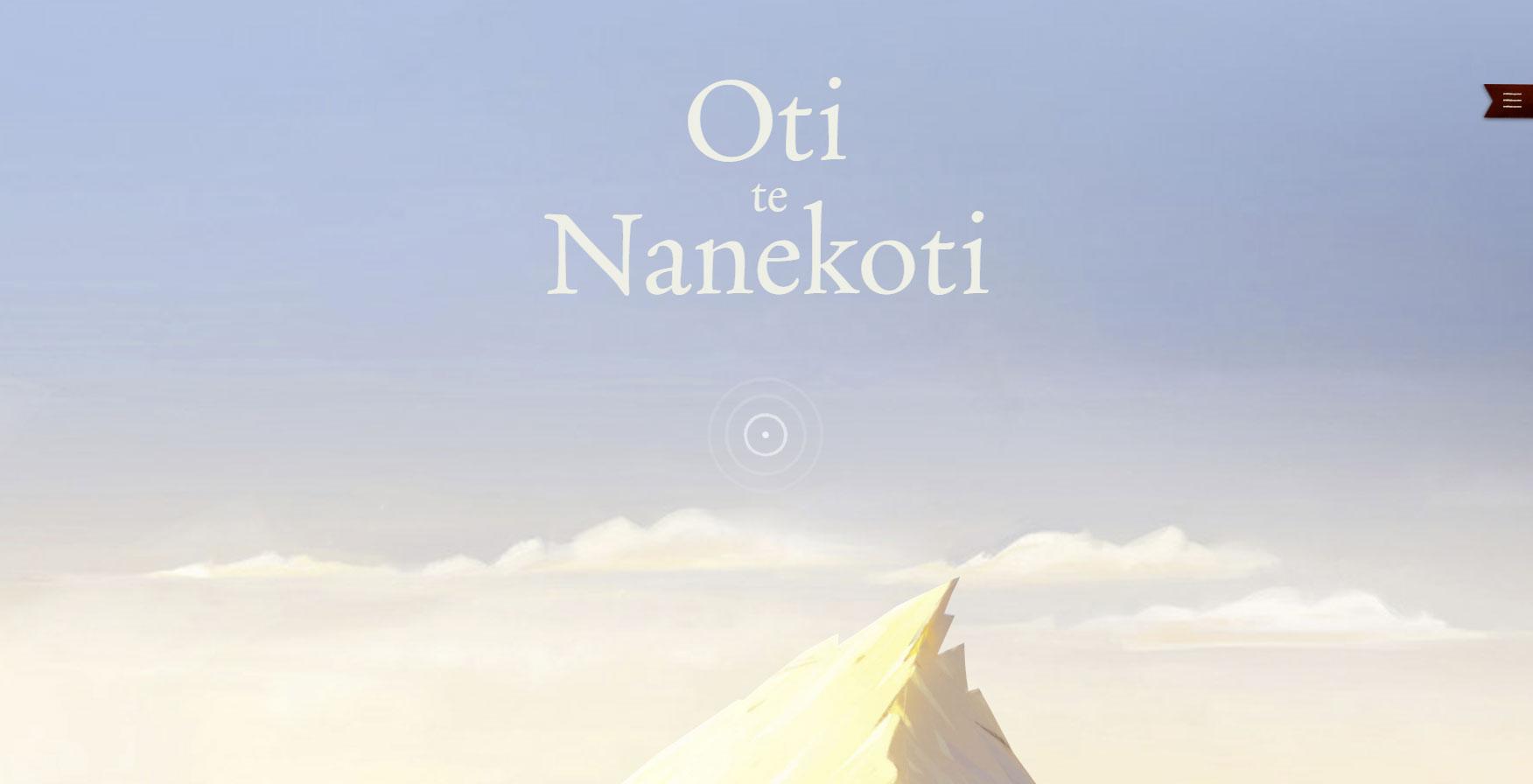 Title screen for Oti te Nanekoti, the Māori version